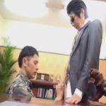 【ゲイ動画】組長がホモのヤクザ事務所の日常…オヤジのチンポをコイてシャブってケツマンにハメられるノンケの舎弟ww