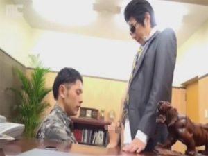 【ゲイ動画ビデオ】組長がホモのヤクザ事務所の日常…オヤジのチンポをコイてシャブってケツマンにハメられるノンケの舎弟ww