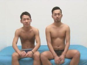 【ゲイ動画ビデオ】スジ筋な2人のケツ割れサポーターをつけた男がアナルセックスをして愛し合うことになるww