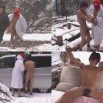 【ゲイ動画】雪山の中で男がマスクマンに追いかけられて野外レイプされ始めて車に移動してアナルセックスさせられるww