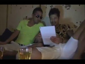 【ゲイ動画ビデオ】オラオラ系のゲイカップルがお酒を楽しんだ後に手コキやフェラを楽しんでからアナルセックスで愛し合うww