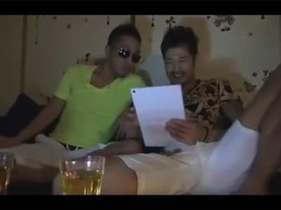 【ゲイ動画】オラオラ系のゲイカップルがお酒を楽しんだ後に手コキやフェラを楽しんでからアナルセックスで愛し合うww