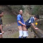 【ゲイ動画】山奥でトレーニングをしているマッチョのイケメンが青姦を楽しんだり車でアナルセックスをしてしまうww