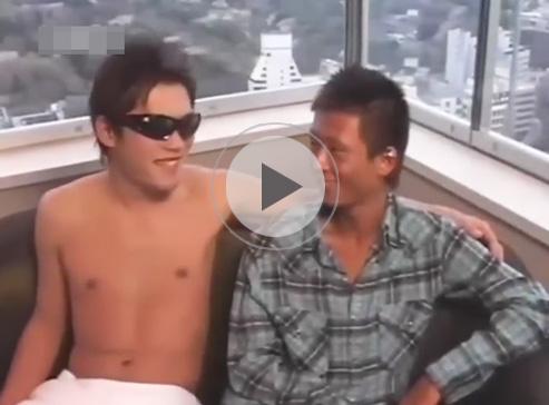 【無修正ゲイ動画】EXILEに所属していそうなオラオラ系の男がアナルセックスで中出しをされながら絶頂をするww