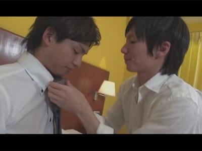 【ゲイ動画】可愛い顔のイケメンなサラリーマン2人がホテルで愛を確かめてイチャつきまくっちゃうww