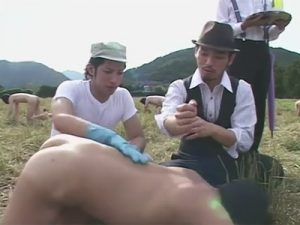 【ゲイ動画ビデオ】ゲイたちが家畜のように牧場で飼われていて牧場主たちにアナルセックスで犯され続けるww