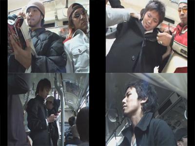【無修正ゲイ動画】ノンケのイケメンだけを狙った犯行…痴漢集団がバスでレイプ紛いの極悪非道な行為に及ぶ一部始終ww