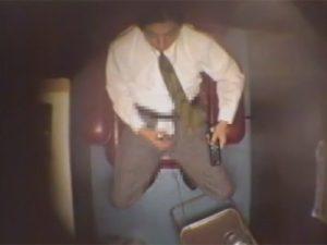 【ゲイ動画ビデオ】ビデオボックスで多数の男が盗撮されてしまいチンコをしごいてオナニーをしている性欲丸出しの姿を捕獲ww