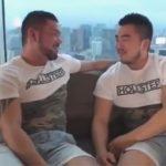 【ゲイ動画】似た者同士のガチムチ肉感カップルが高層ホテルで生チンセックス…フィニッシュは男らしい中出しww