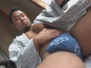 【ゲイ動画ビデオ】男前のガチムチ男子と温泉旅行…露天風呂付きの客室でリバセックスでケツマンを掘り合い盛るww