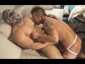 【ゲイ動画ビデオ】レスラー体型のゴリマッチョ覆面兄貴がエグザイル系ガチムチ兄貴と激しく結ばれるアナルセックスww