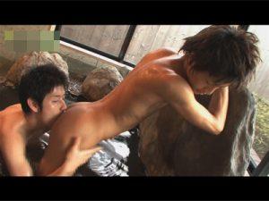 【ゲイ動画ビデオ】可愛い顔のイケメン2人が温泉を楽しみながら愛し合って普段と違うアナルセックスをし始めるww