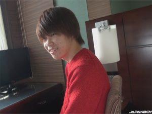 【無修正ゲイ動画】ニキビが少し出ている若々しくて可愛い系の男がオナニー姿を見せてくれるww