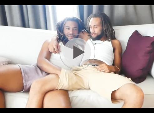 【無修正ゲイ動画】ドレッドヘアの外国人がアナルセックスをして愛し合って絶頂しちゃうww