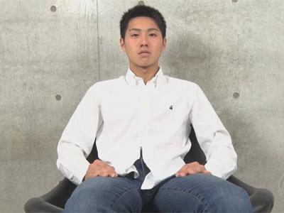 【ゲイ動画】スジ筋なイケメンがゴーグルマンに手コキを激しくされて精液を噴射してしまうww