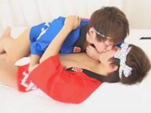 【ゲイ動画】お祭りで恋が芽生えた…ハッピにふんどしのジャニ系イケメンカップルがセーフセックスww