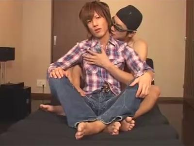 【ゲイ動画】素人のジャニ系イケメンがゴーグルマンと1時間近くアナルセックスを堪能している姿を楽しめちゃうww